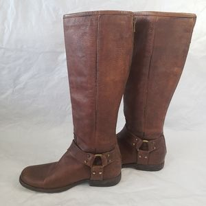 The Frye company phillip harness boots knee high